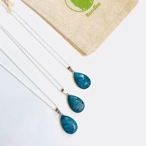 ✨HP✨ Blue Jasper Teardrop Sterling Silver Necklace